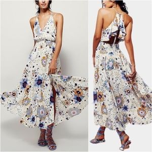 Free People Marigold Maxi Dress Open Back Size L